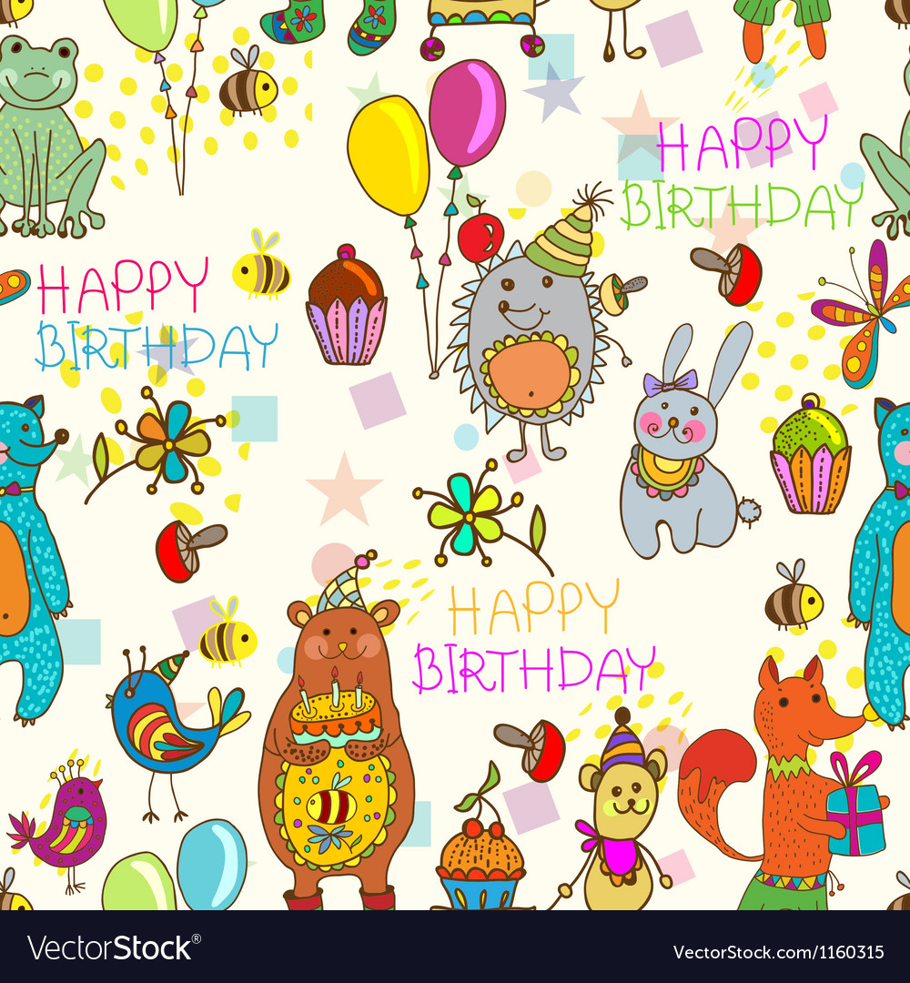 Seamless hedge birthday vector | Price: 1 Credit (USD $1)