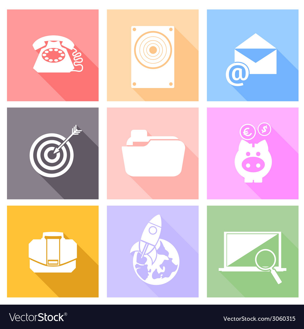 Set icons for web and mobile applications vector | Price: 1 Credit (USD $1)
