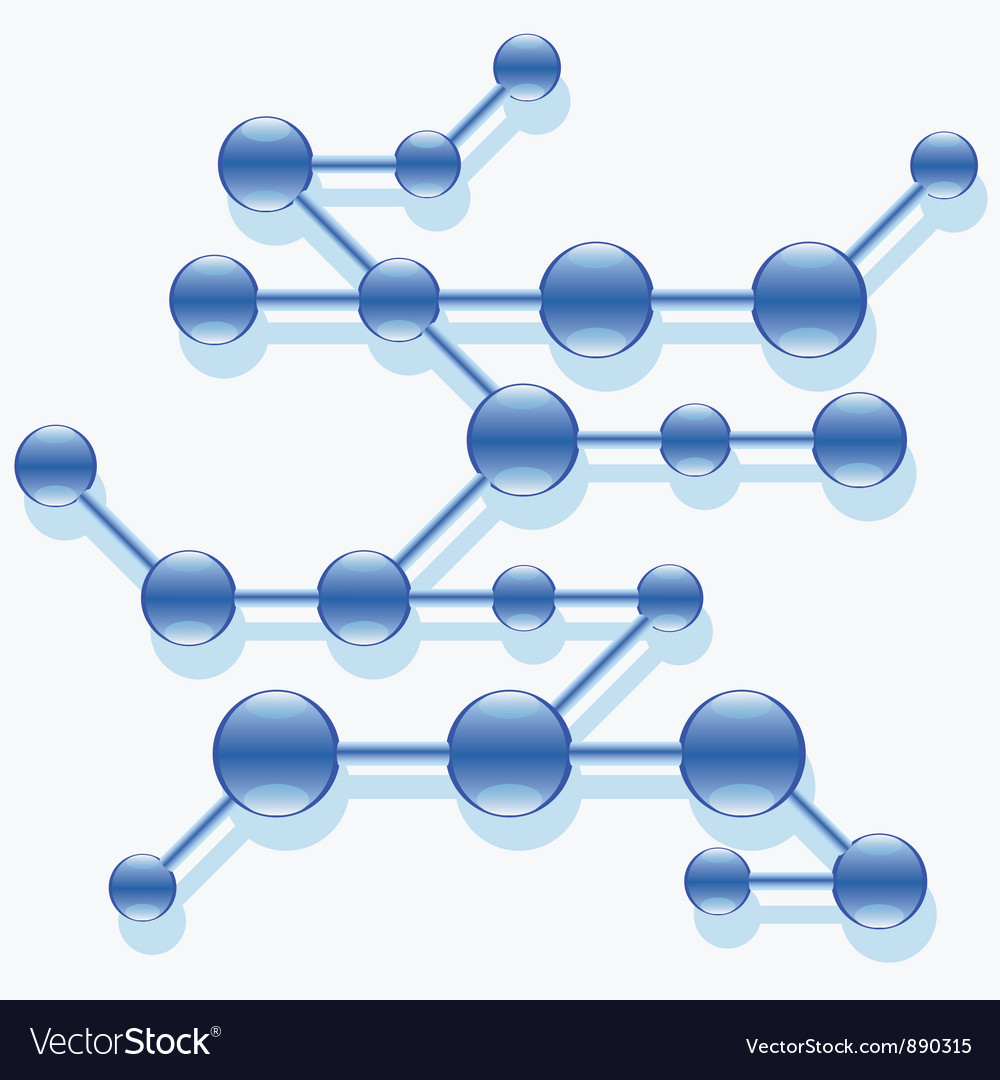 Structure of abstract molecule vector | Price: 1 Credit (USD $1)