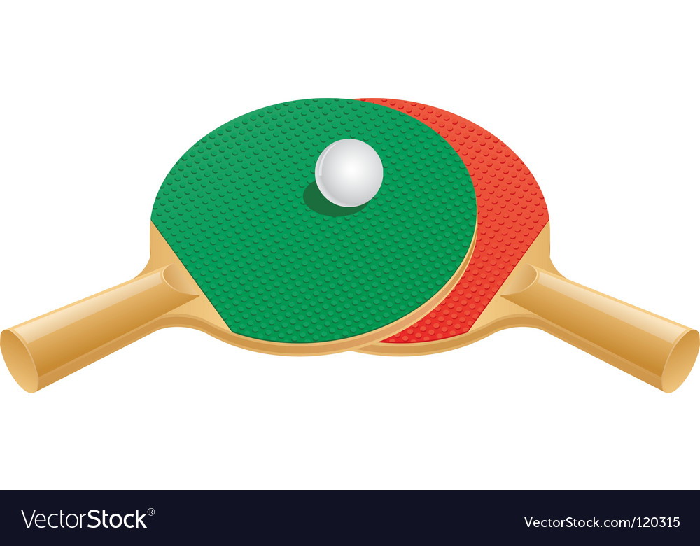 Table tennis paddles and ball vector | Price: 3 Credit (USD $3)