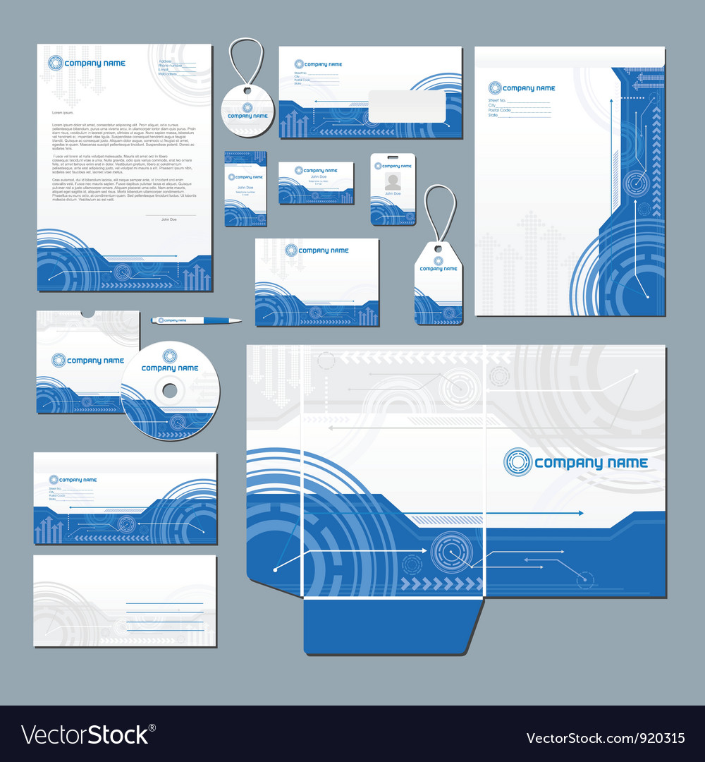 Technology stationery set vector | Price: 3 Credit (USD $3)
