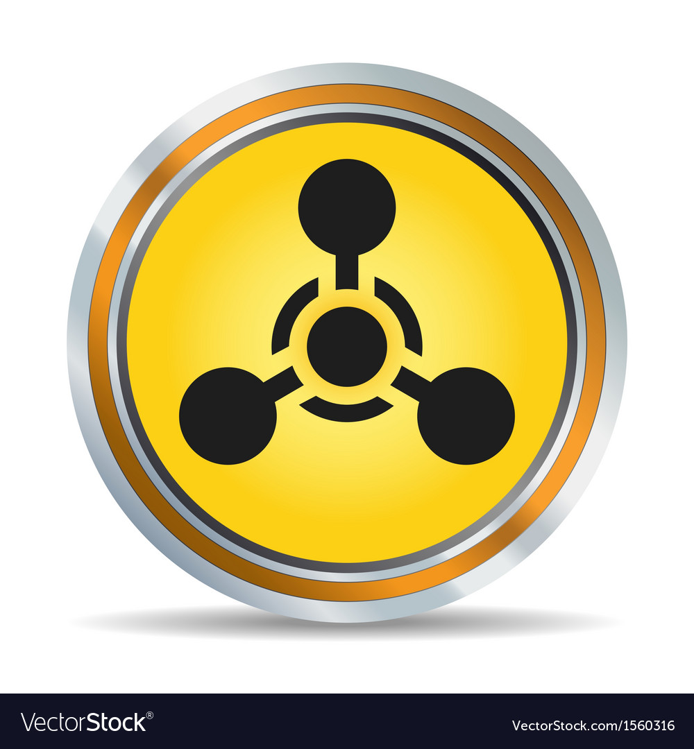 Chemical hazard icon vector | Price: 1 Credit (USD $1)