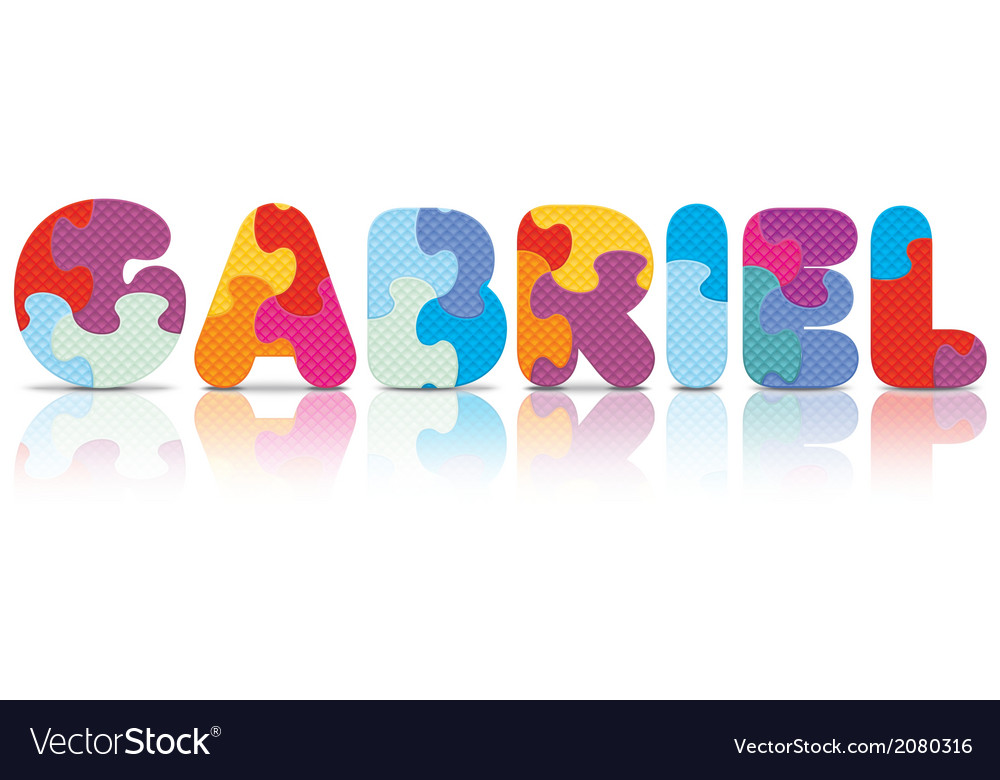 Gabriel written with alphabet puzzle vector | Price: 1 Credit (USD $1)