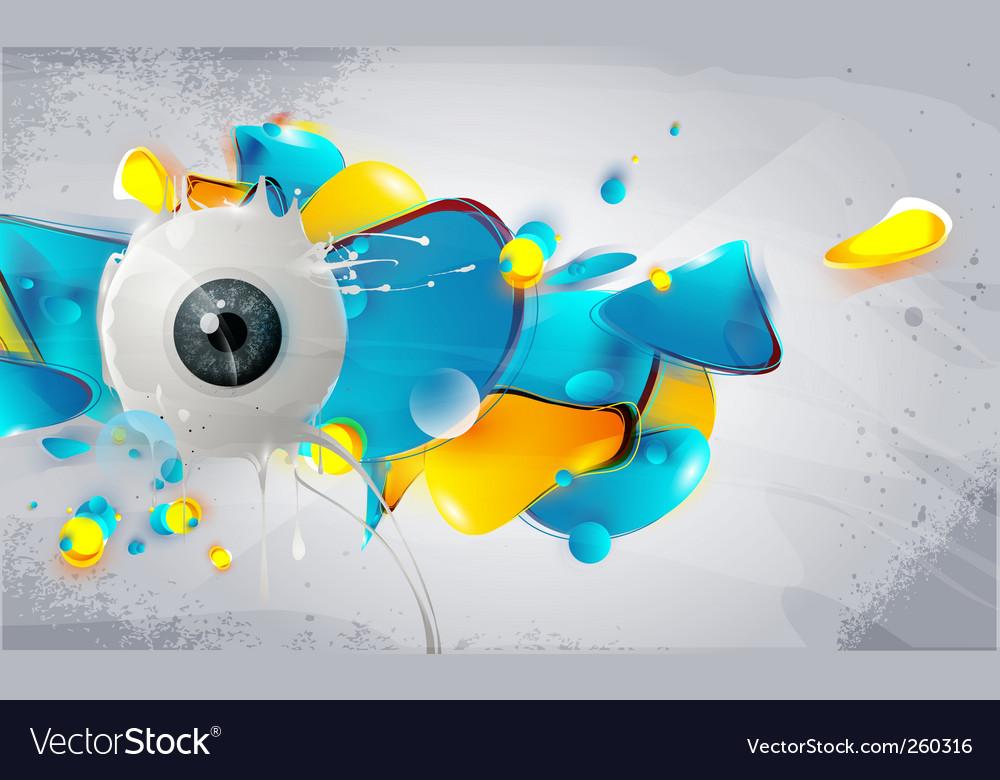 Human eye abstract vector   Price: 1 Credit (USD $1)