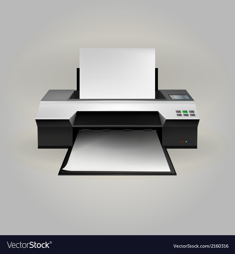 Inkjet printer vector | Price: 1 Credit (USD $1)