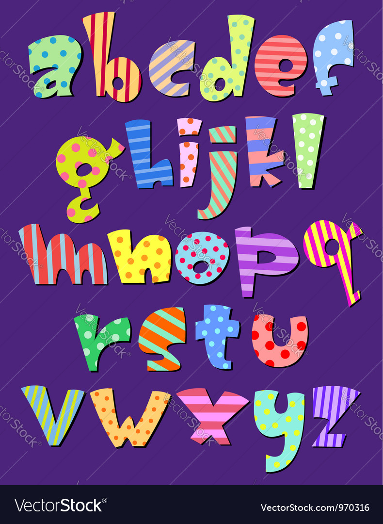 Lower case comic alphabet vector | Price: 1 Credit (USD $1)