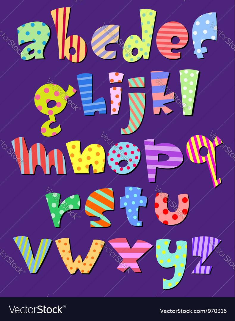 Lower case comic alphabet vector | Price: 1 Credit (USD $1)