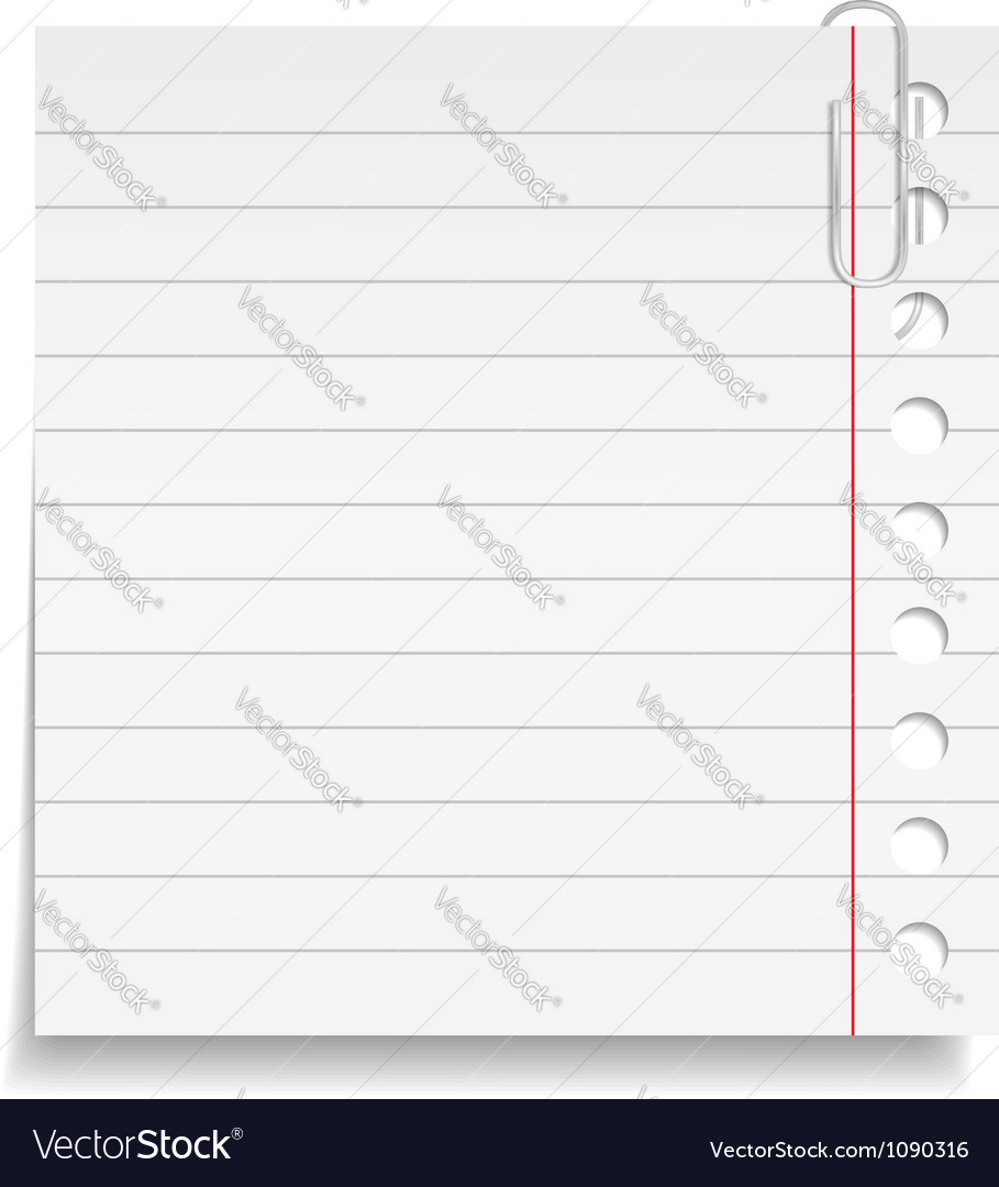 Paper note with clip vector | Price: 1 Credit (USD $1)