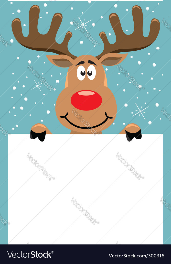 Rudolph christmas background vector | Price: 1 Credit (USD $1)