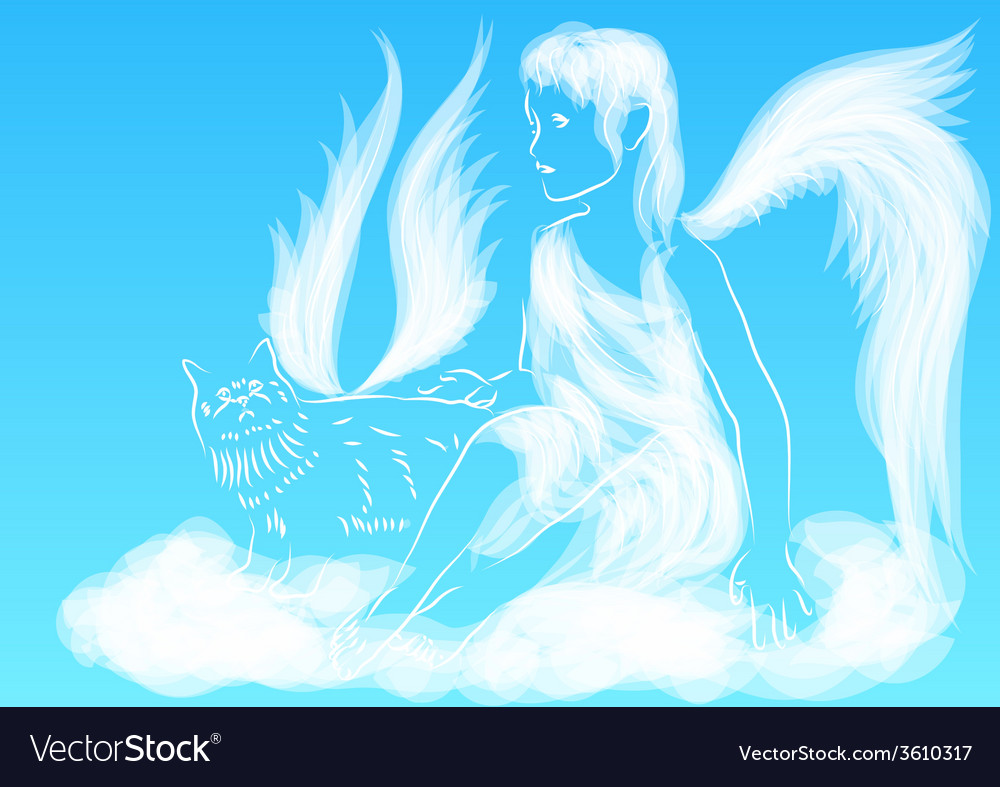 Angel in the sky vector | Price: 1 Credit (USD $1)
