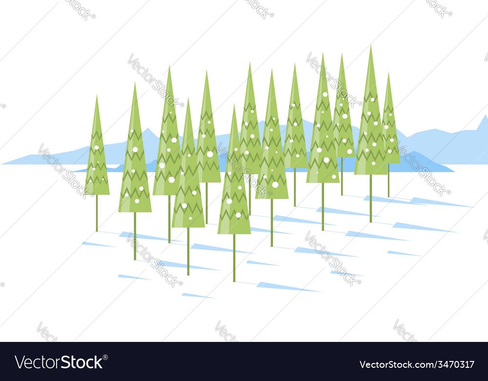 Cartoon spruce trees vector | Price: 1 Credit (USD $1)