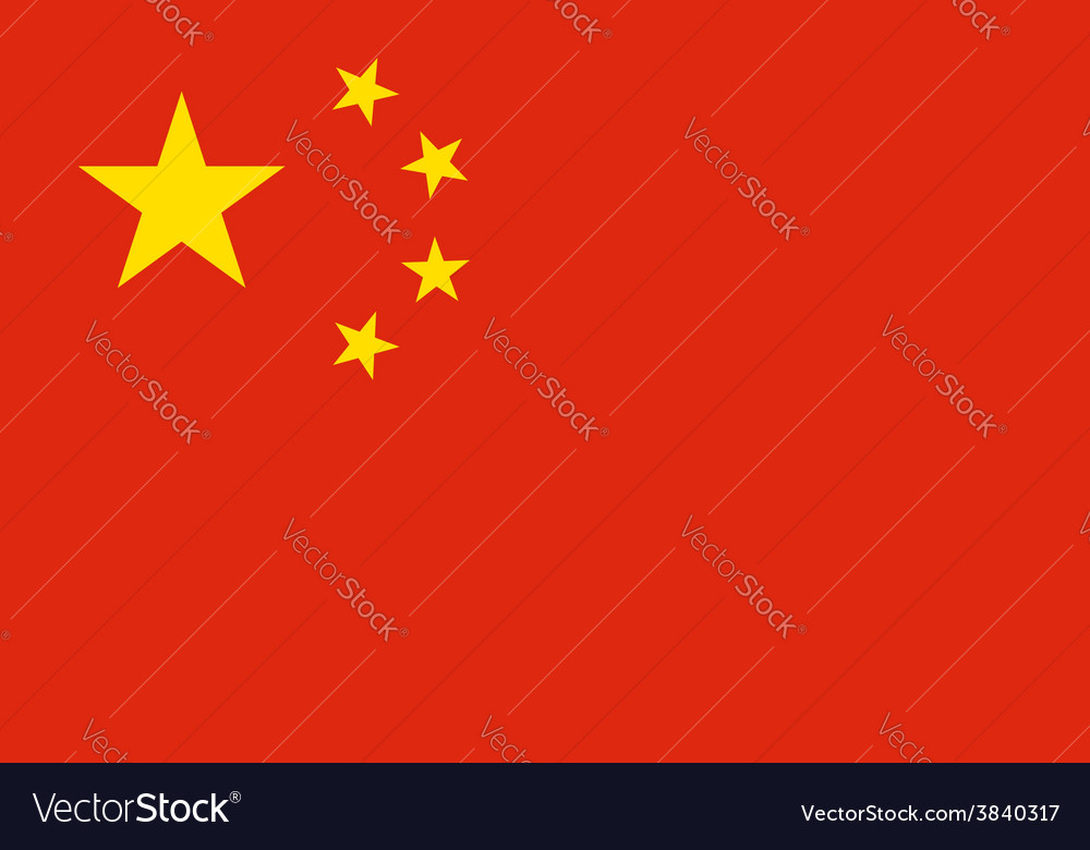 China flag original proportion and colors high vector | Price: 1 Credit (USD $1)