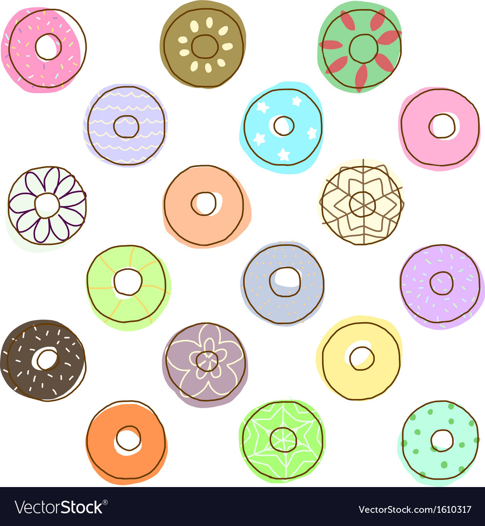 Colorful donuts vector | Price: 1 Credit (USD $1)