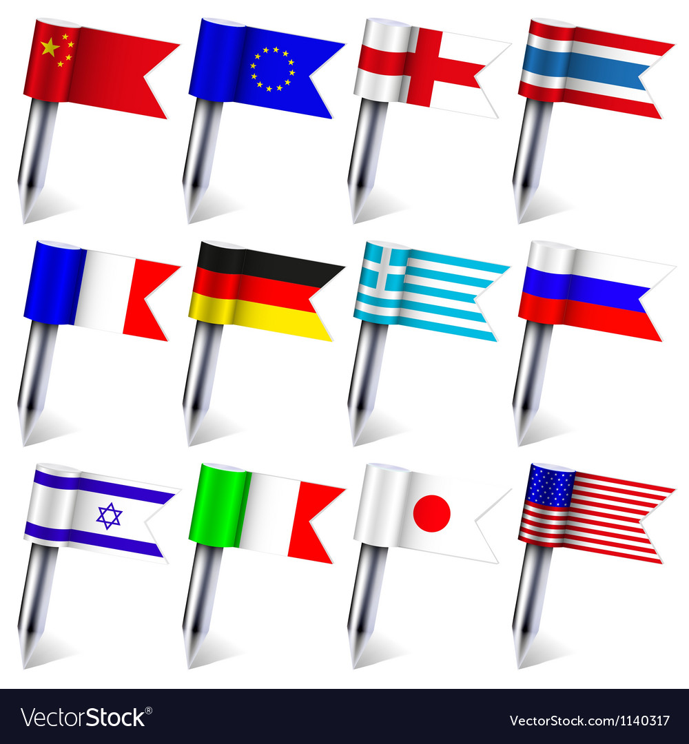 Flag count set vector | Price: 1 Credit (USD $1)