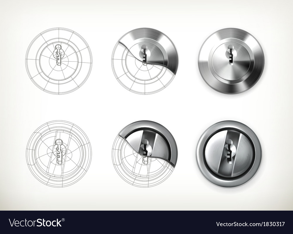 Keyhole drawing vector | Price: 1 Credit (USD $1)