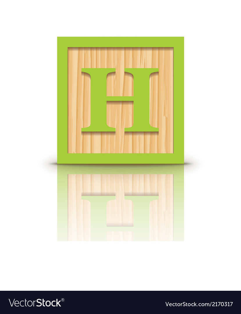 Letter h wooden alphabet block vector | Price: 1 Credit (USD $1)