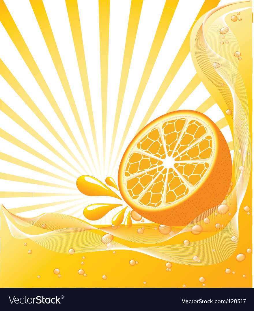 Orange background with a sun vector | Price: 1 Credit (USD $1)