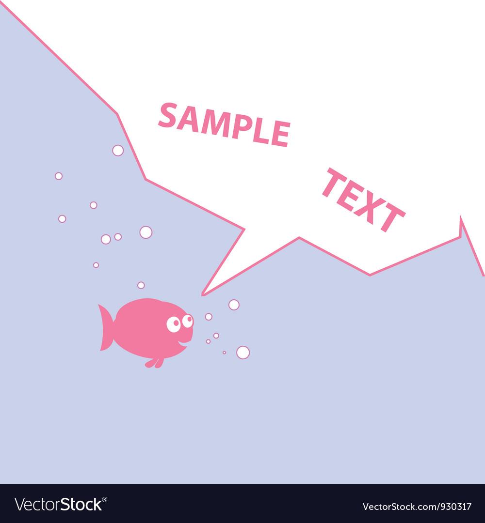 Pink cartoon fish vector   Price: 1 Credit (USD $1)