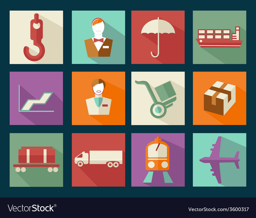 Set icon cargo vector   Price: 1 Credit (USD $1)