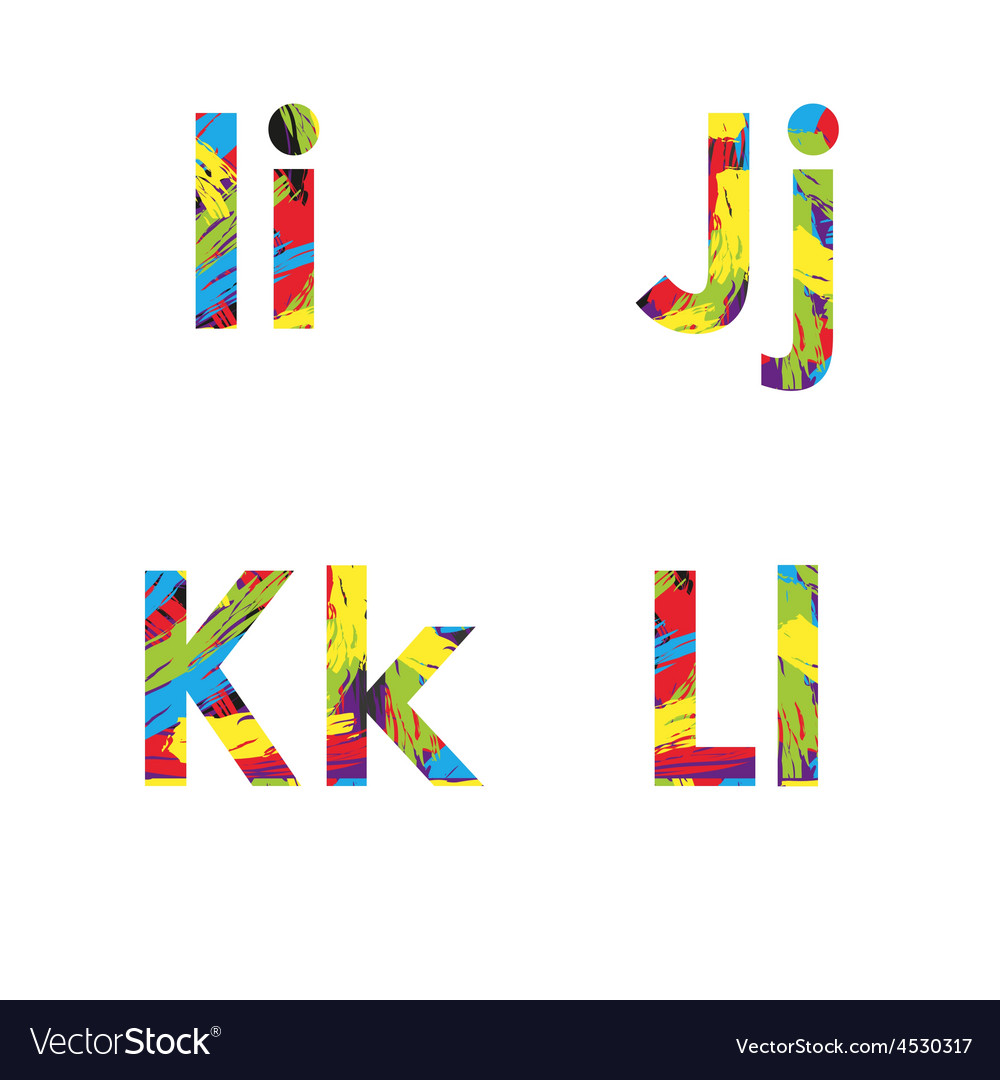 Set of colorful alphabets on abstract background vector | Price: 1 Credit (USD $1)