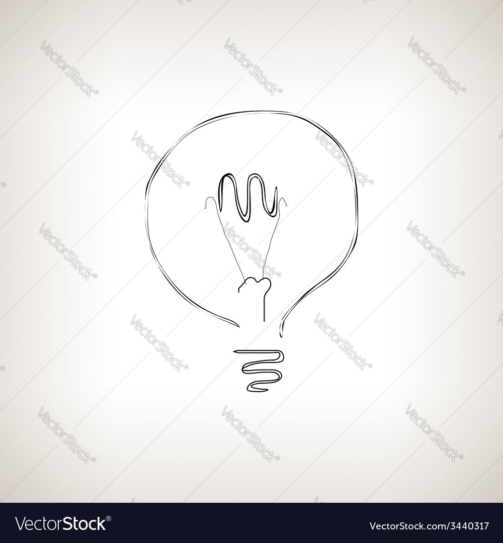 Silhouette lightbulb on a light background vector | Price: 1 Credit (USD $1)