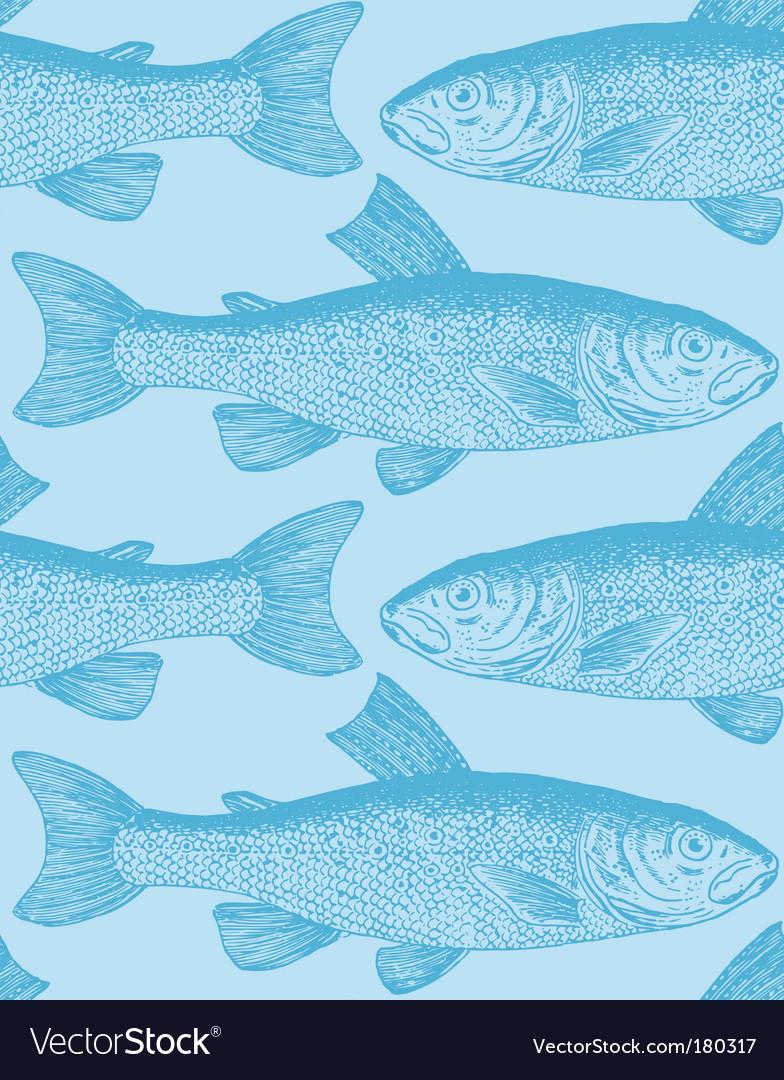 Vintage fish pattern vector   Price: 1 Credit (USD $1)