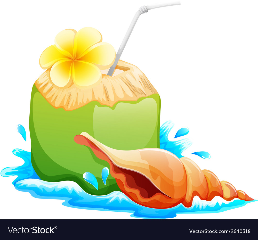 A refreshing and healthy summer drink vector | Price: 1 Credit (USD $1)