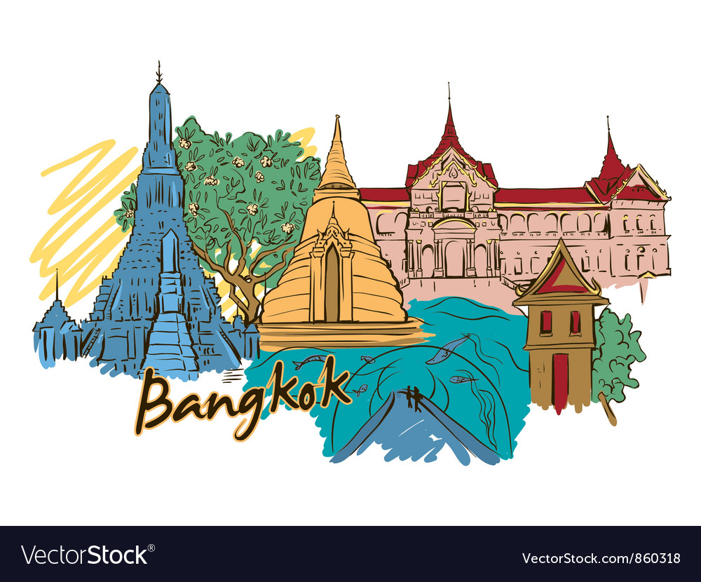 Bangkok doodles vector | Price: 3 Credit (USD $3)