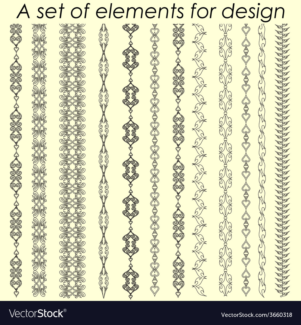 Calligraphic design elements 2 - set vector | Price: 1 Credit (USD $1)