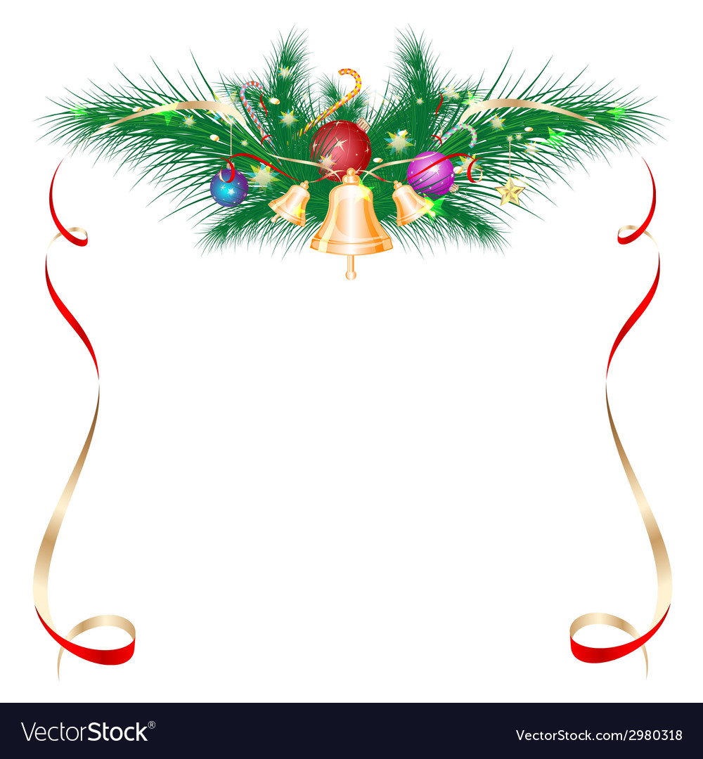 Christmas card as a frame vector | Price: 1 Credit (USD $1)
