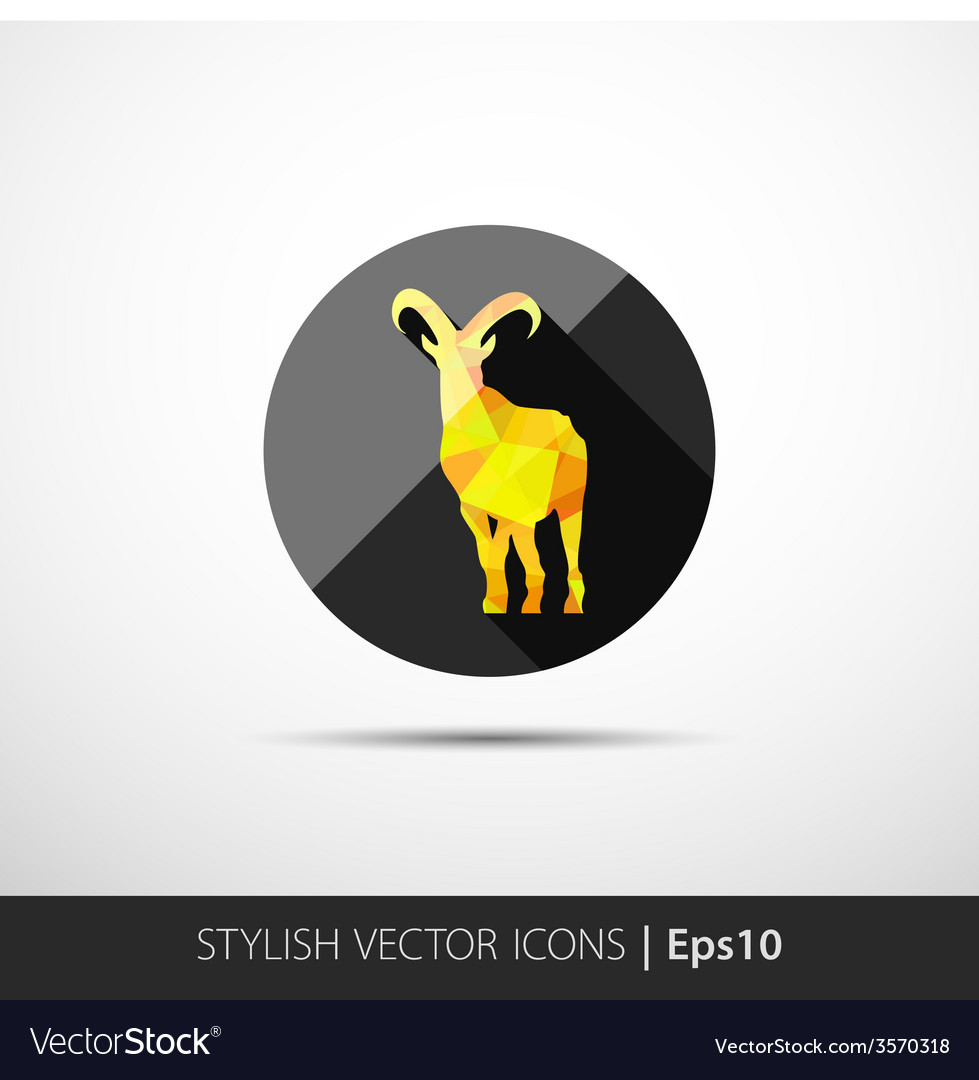 Colorful with silhouette of goat vector   Price: 1 Credit (USD $1)
