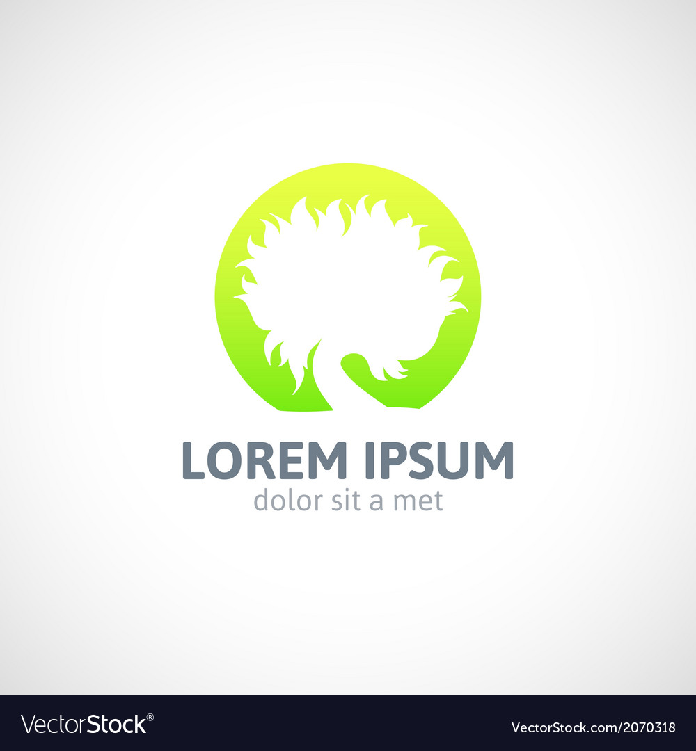 Eco green tree logo template abstract icon vector | Price: 1 Credit (USD $1)