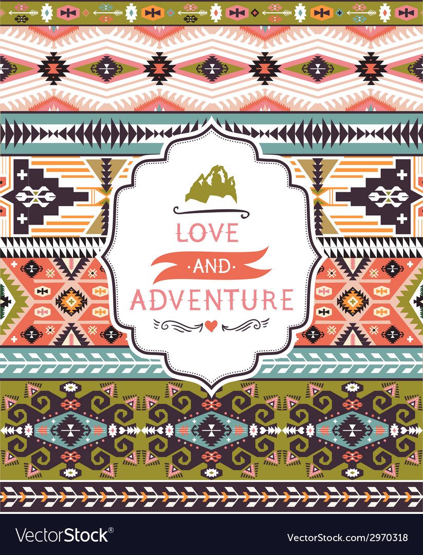 Ethnic print pattern background vector | Price: 1 Credit (USD $1)