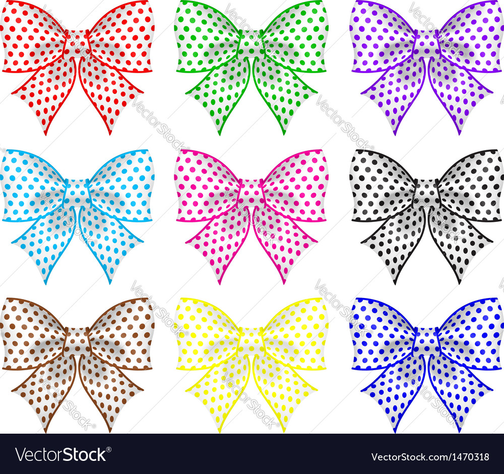 Festive bows vector | Price: 1 Credit (USD $1)