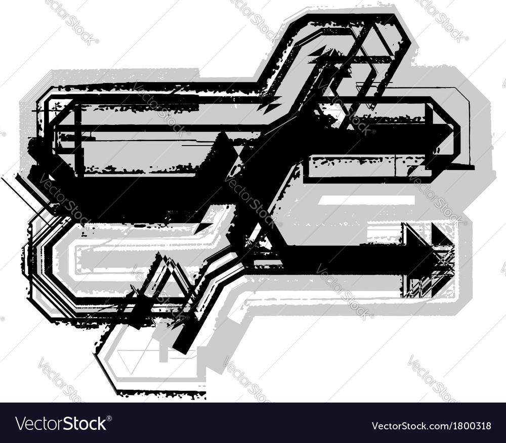 Grunge symbol vector | Price: 1 Credit (USD $1)