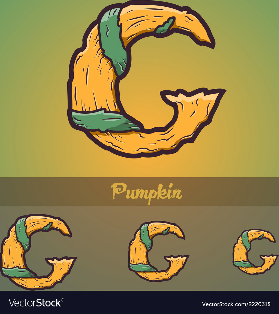 Halloween decorative alphabet - g letter vector | Price: 1 Credit (USD $1)