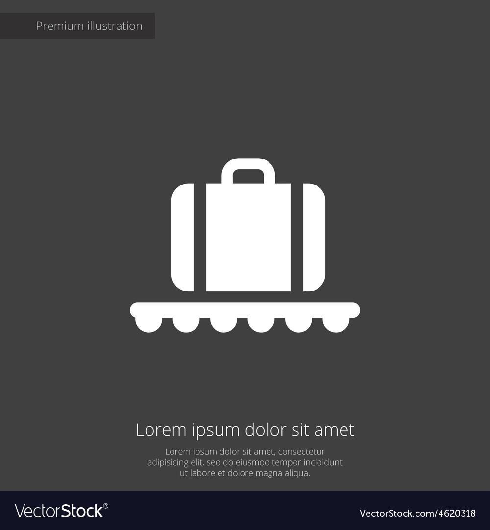 Luggage on airport premium icon vector | Price: 1 Credit (USD $1)