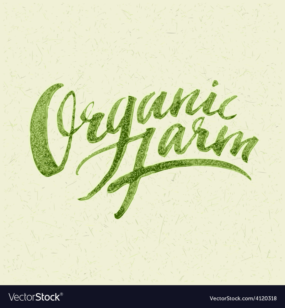 Organic farm logo vector | Price: 3 Credit (USD $3)
