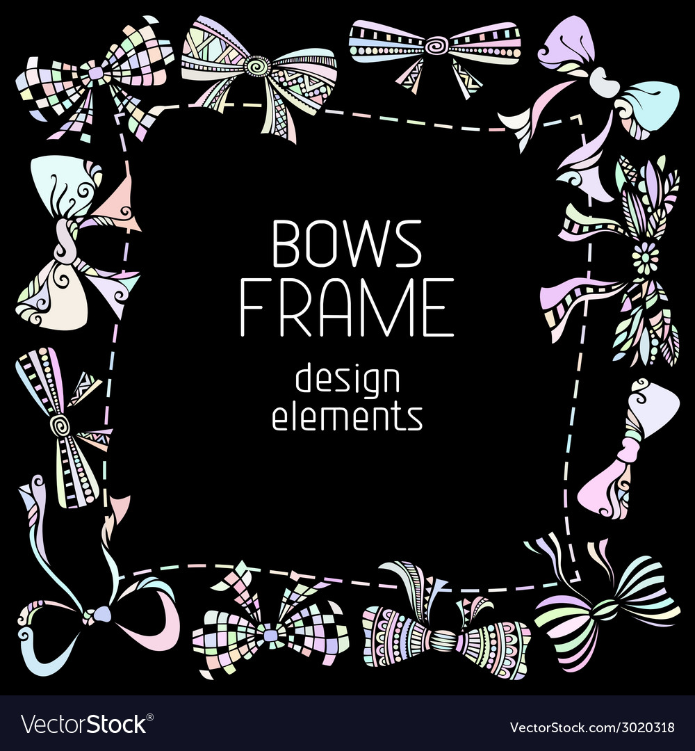 Ornate bows frame vector | Price: 1 Credit (USD $1)