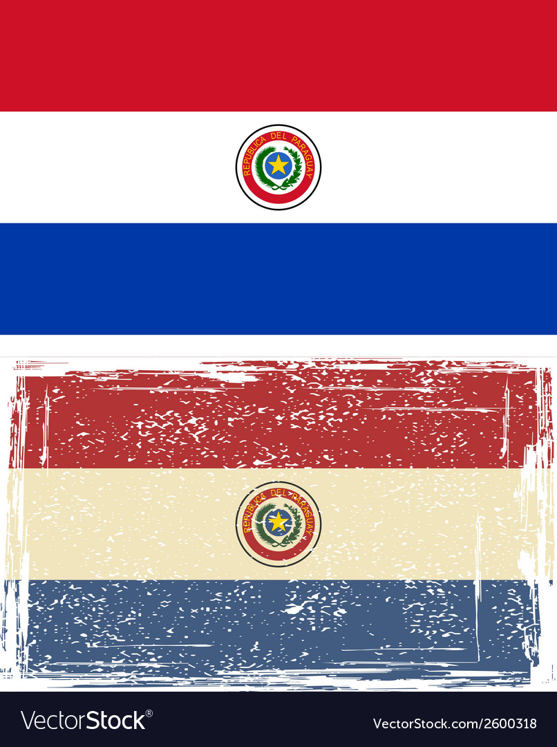 Paraguayan grunge flag vector | Price: 1 Credit (USD $1)