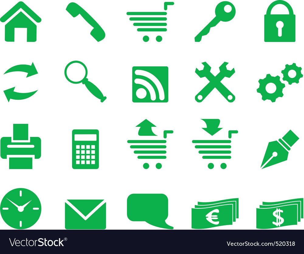 Set of simple icons for decoration and design vector | Price: 1 Credit (USD $1)