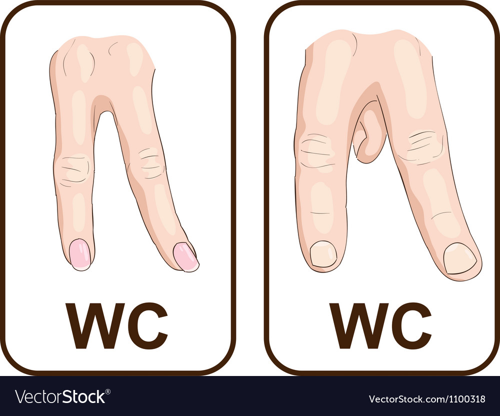 Wc gender symbols vector | Price: 1 Credit (USD $1)