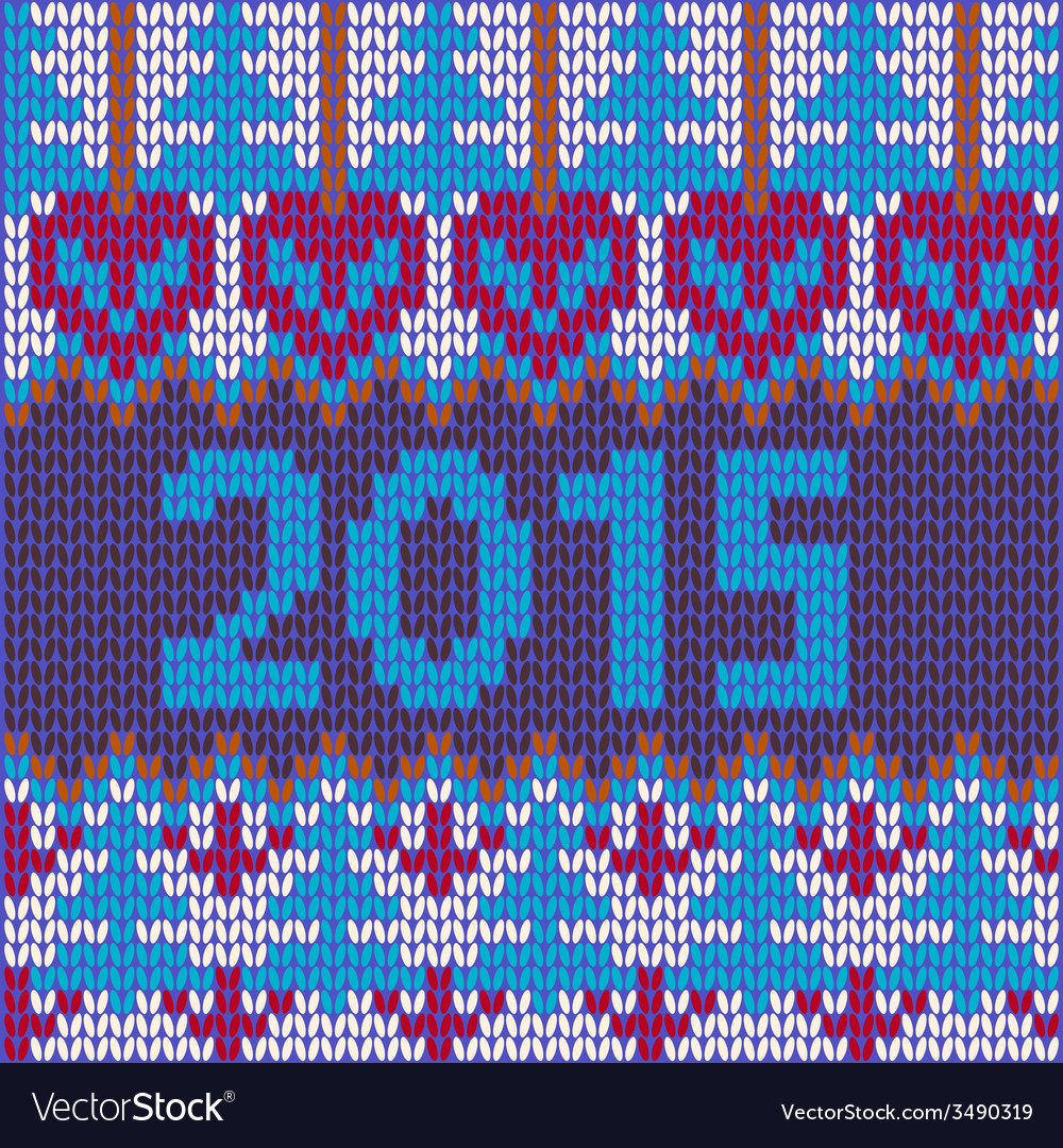 2015-background of new year with knitted vector | Price: 1 Credit (USD $1)