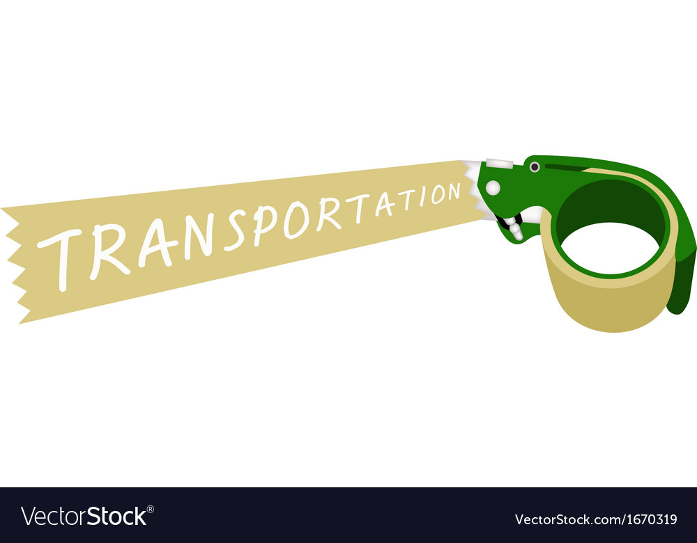 Adhesive tape dispenser with a word transportation vector | Price: 1 Credit (USD $1)