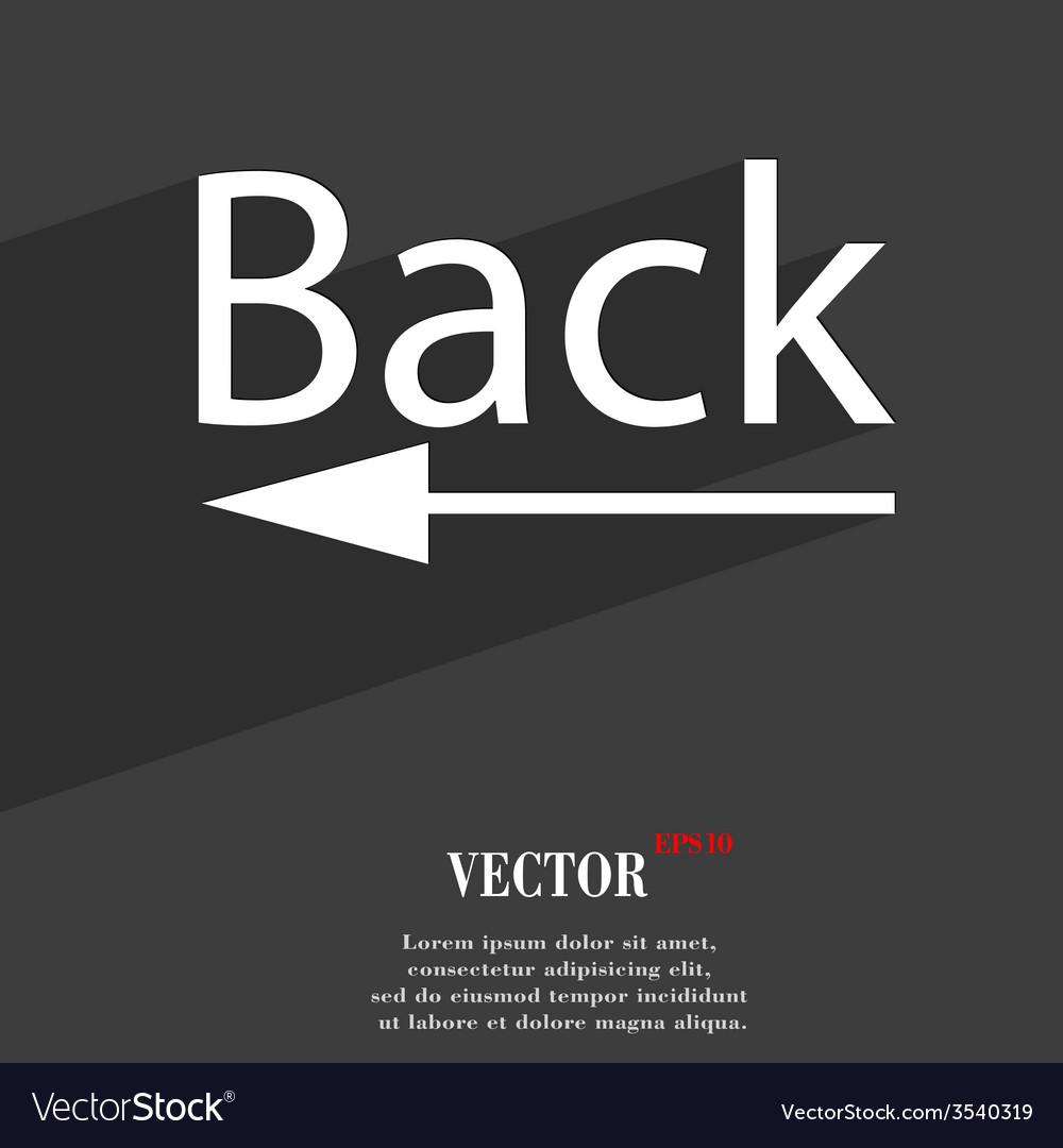 Back arrow icon symbol flat modern web design with vector | Price: 1 Credit (USD $1)