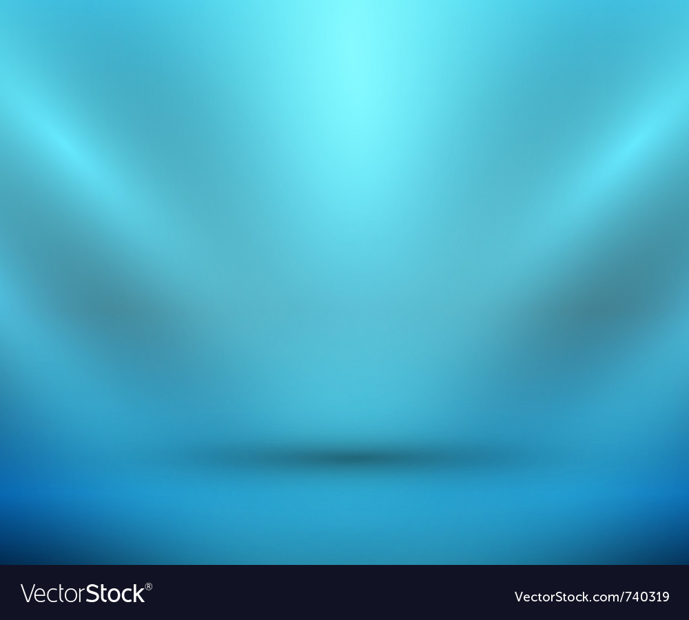 Blank light room blue vector | Price: 1 Credit (USD $1)