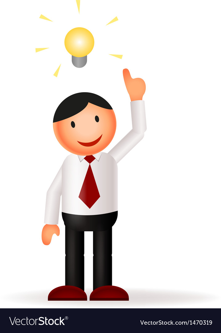 Businessman cartoon and idea vector | Price: 1 Credit (USD $1)
