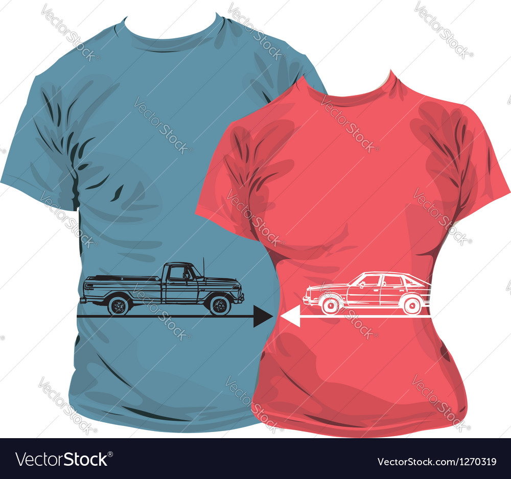 Car t-shirt vector | Price: 1 Credit (USD $1)