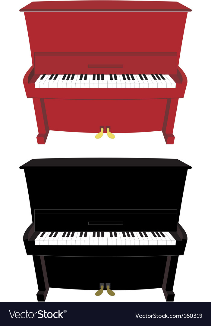 Cartoon piano vector | Price: 1 Credit (USD $1)
