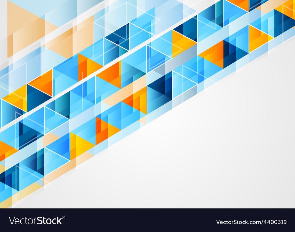 Graphic of geometric bright triangles vector | Price: 1 Credit (USD $1)